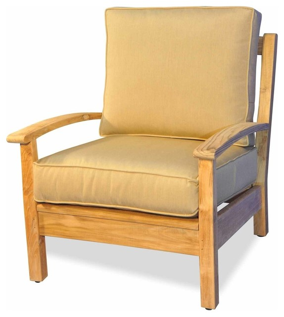 Teak Deep Seating Single Chair by Regal Teak - Transitional ...