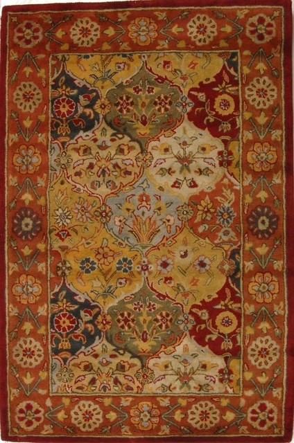 Heritage Area Rug, Rectangle, Multi Color - Red, 4&x27;x6&x27;.