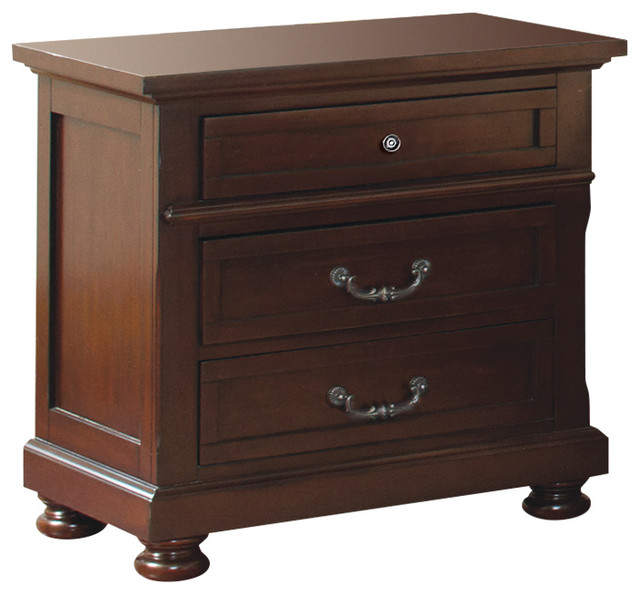 Coaster Night Stand Dark Cherry Finish 200832