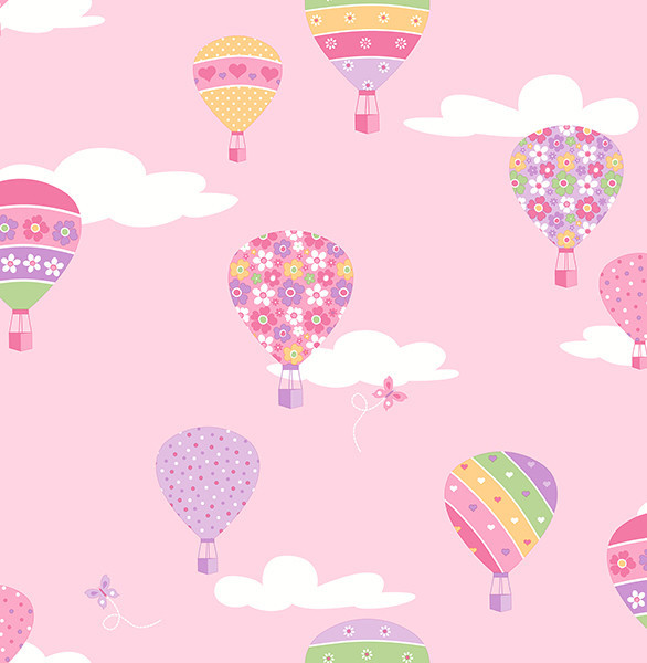 Shop Houzz Brewster Home Fashions Hot Air Balloons Pink