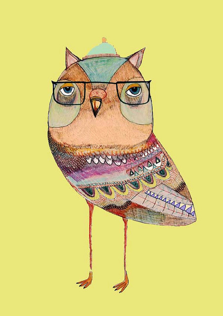 Owl Art Mr Owl Limited Edition Owl Art Print by Ashley Percival