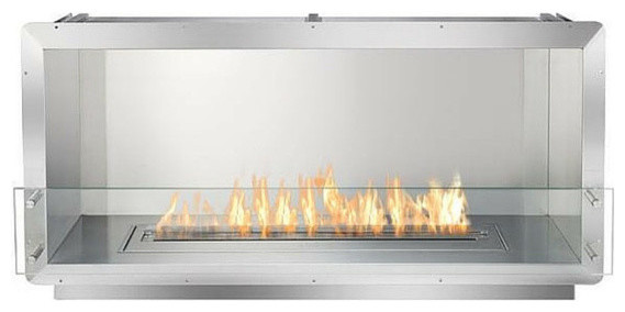 Vector Lv62 Direct Vent See-Thru Gas Fireplace Package3