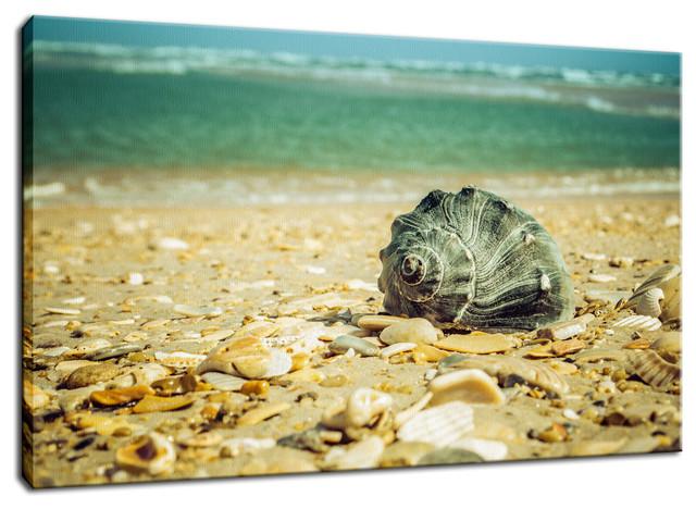 """Daydreams on the Shore"" Nautical Nature Photo Fine Art Canvas Wall Art Print, 2"