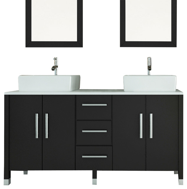 Sirius Vanity With Phoenix Stone Top 59 Modern Bathroom Vanities And