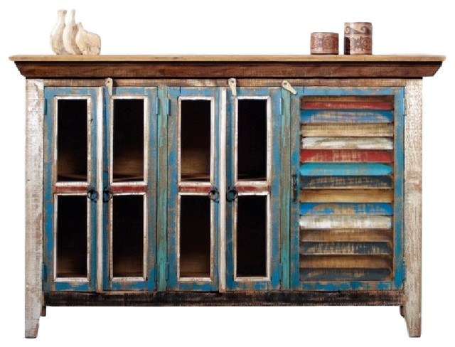 Reclaimed Wood Curio Cabinet Tv Credenza