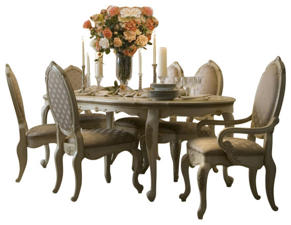 Dining Table Set lavelle blanc 9-piece oval dining table set - victorian - dining