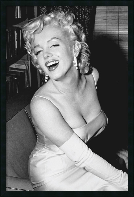Marilyn Monroe Smiling Framed With Gel Coated Finish - Contemporary ...