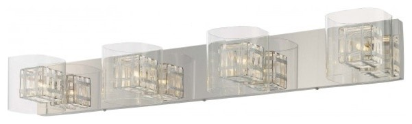 Contemporary Bathroom Vanity Lights jewel box 4-light bath bar - contemporary - bathroom vanity
