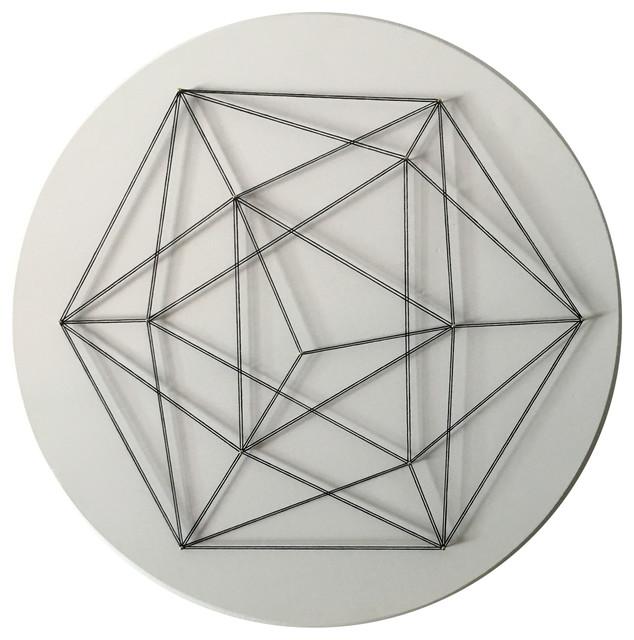 """modern Icosahedron"" Wall Art, 18""x18""."