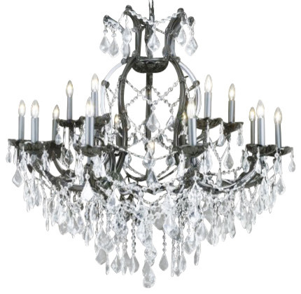 Chandelier Black Crystal: Jet Black Crystal Chandelier With Clear Crystal traditional-chandeliers,Lighting