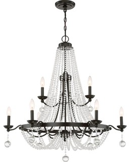 84331484 Quoizel Livery 9 Light Chandelier Western Bronze Traditional Chandeliers on western dining room chairs