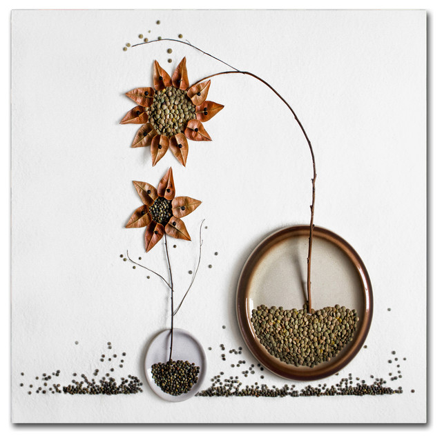 Kitchen Herbarium Art: Dimitar Lazarov 'Herbarium' Canvas Art