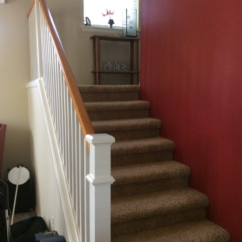 Removing Walls And Updating Staircase Rails To Open Up