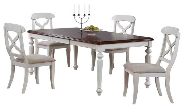 Chichester 5-Piece Dining Set, Antique White.