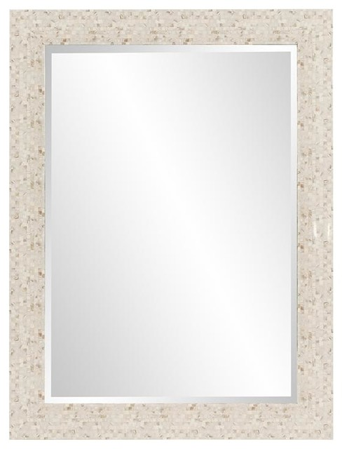 Maui Tiled Mirror, Mother Of Pearl.