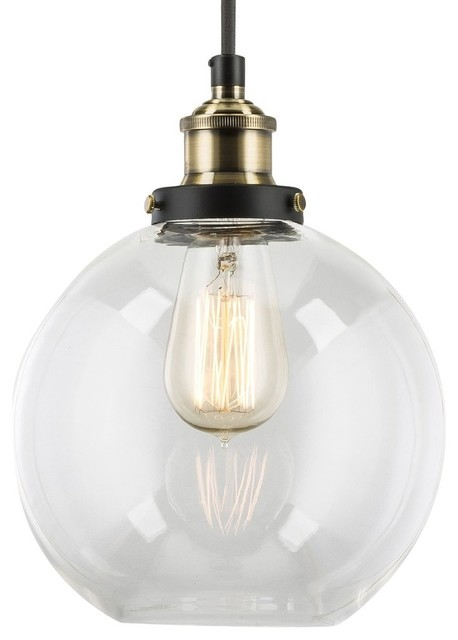Primo Pendant With Clear Glass Shade