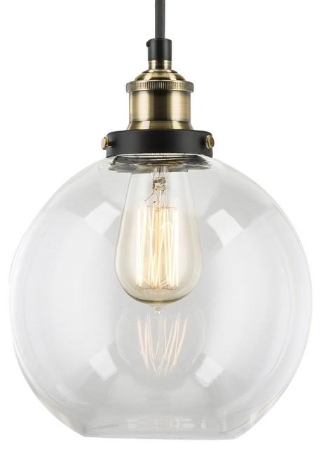 linea di liara primo industrial pendant lamp with glass shade antique brass pendant