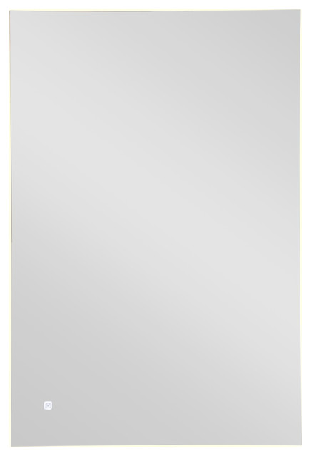 "Sesel Led Rectangular Bathroom Mirror With Touch Sensor, 24""x36""."