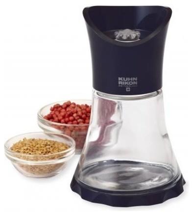 Kuhn Rikon Glass Vase Grinder Modern Salt And Pepper Shakers And