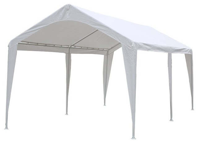 10x20u0027 Outdoor Carport Canopy With 6 Steel Legs White contemporary-canopies -tents  sc 1 st  Houzz & 10x20u0027 Outdoor Carport Canopy With 6 Steel Legs White ...