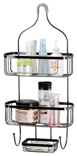 Shower Caddy Black Wire Large