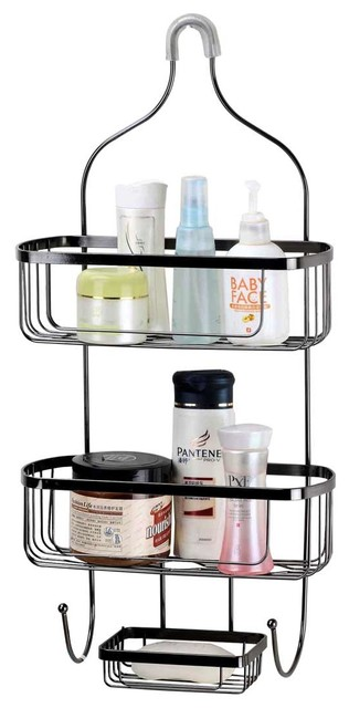 Shower Caddy Black Wire Large - Contemporary - Shower Caddies - by ...