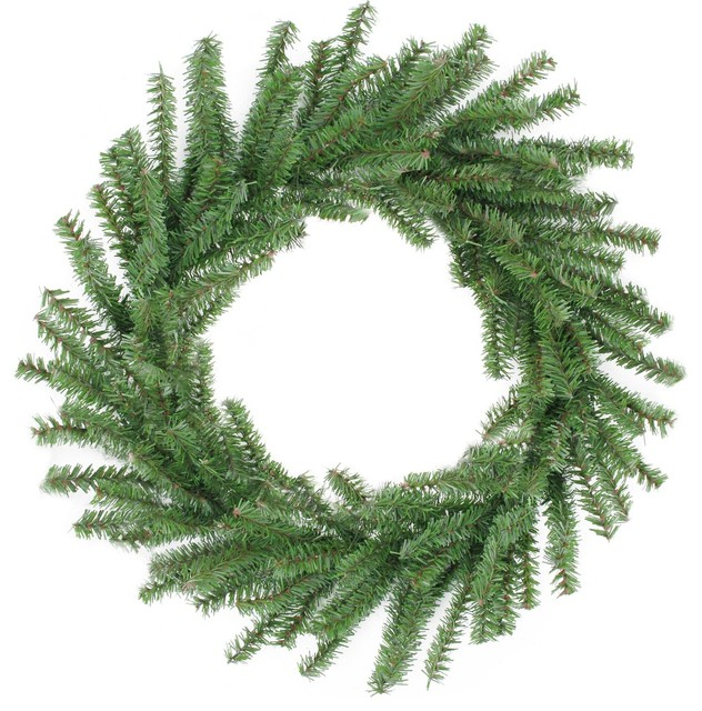 "16"" Mini Pine Artificial Christmas Wreath - Unlit."