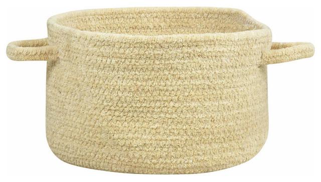 "Custom Classics Braided Basket, Coffee, 20""x20""x12"""