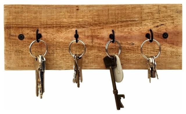 Reclaimed Wood Key Holder 7 Hook 16