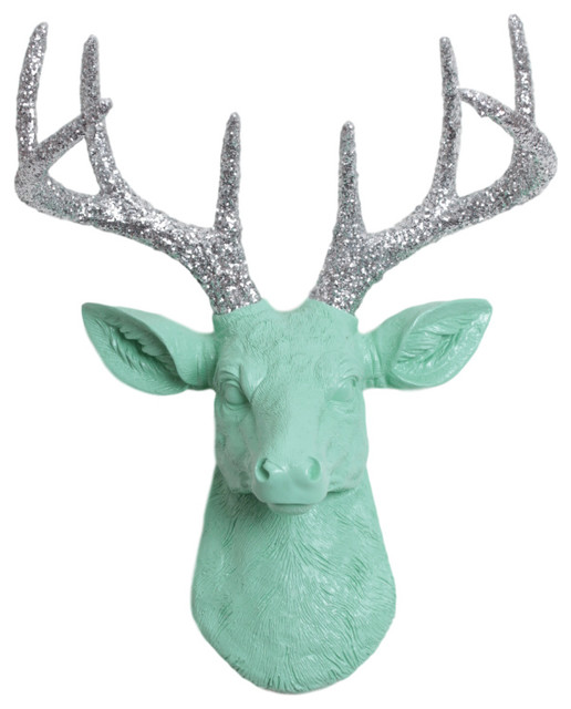 Mini Faux Deer Head Wall Mount contemporary-wall-sculptures - Mini Faux Deer Head Wall Mount - Contemporary - Wall Sculptures