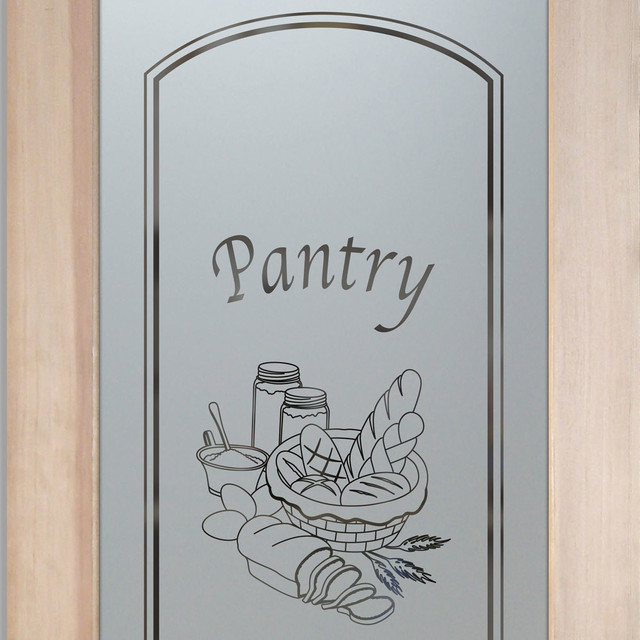 Pantry Doors - Frosted Glass Designs YOU Customize! - Eclectic - Pantry And Cabinet Organizers ...