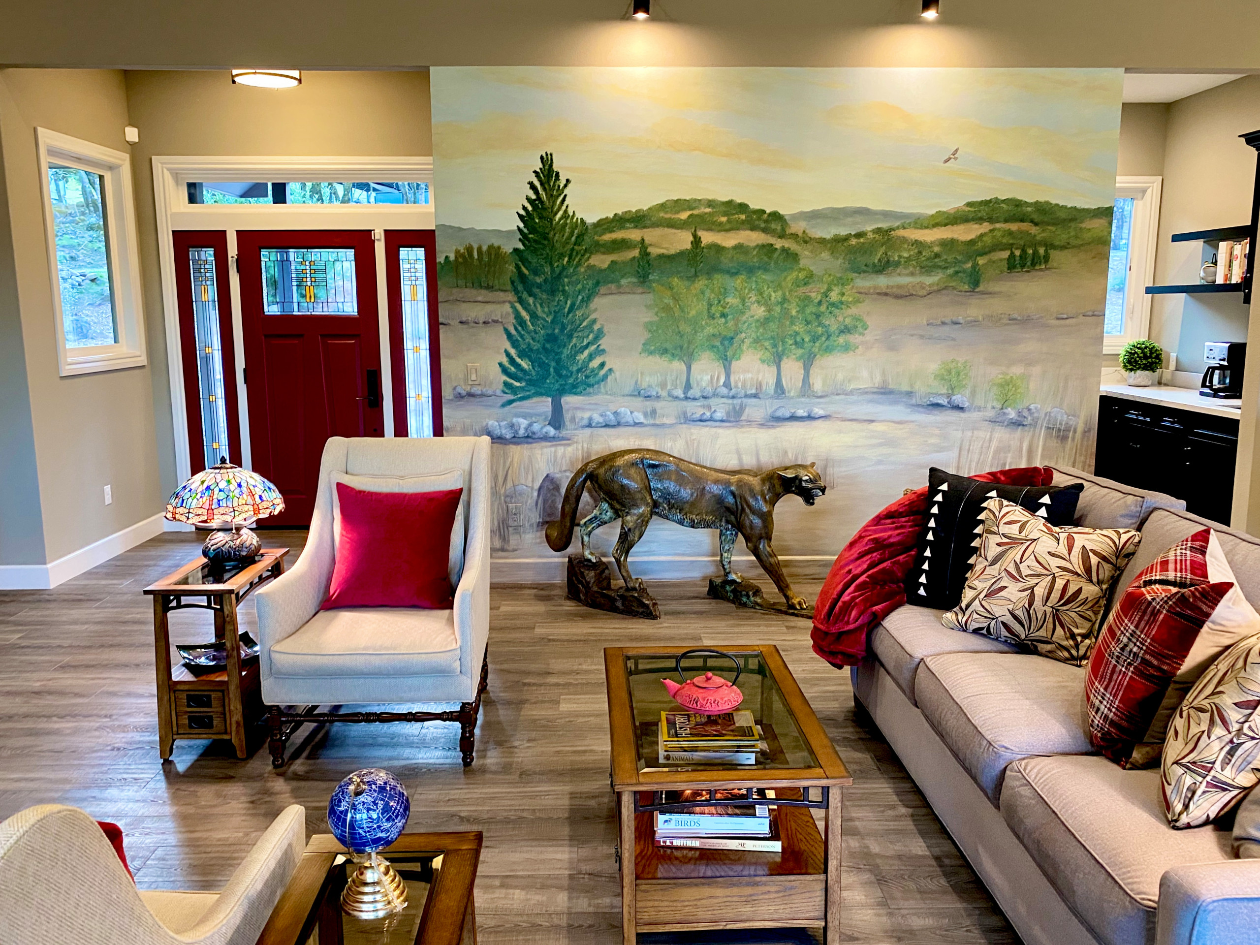Home Sweet Home Living Room in Santa Rosa: A Rebuild After the Fire