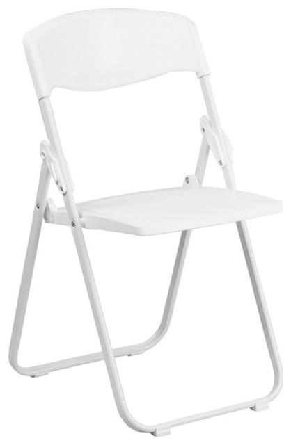 Hercules Series 880 Lb. Capacity Heavy Duty Plastic Folding Chair, White