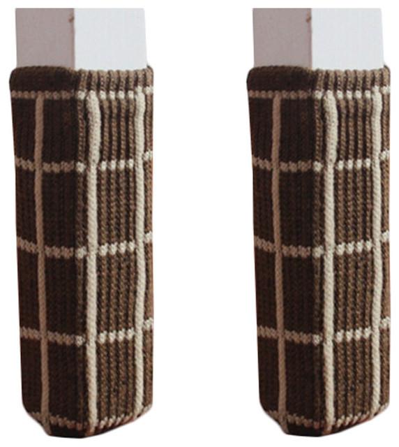 Set Of 24 Knitting Chair Table Leg Pads Furniture Socks Floor
