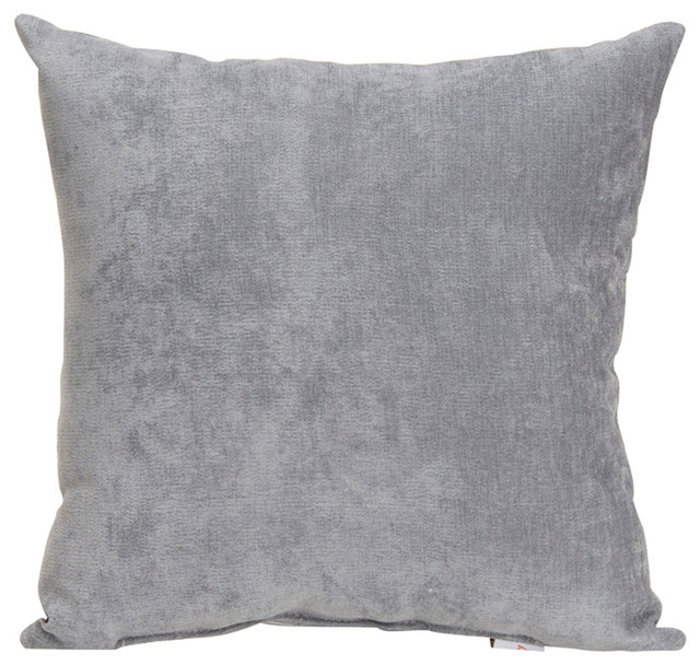 Solid Decorative Throw Pillows : Swizzle Solid Gray Pillow - Contemporary - Decorative Pillows - by Glenna Jean