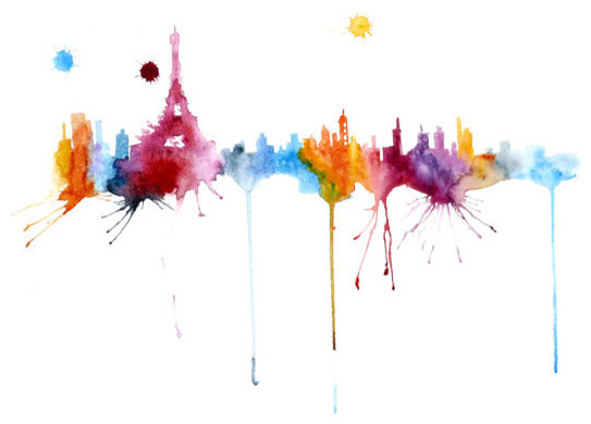 Cool Shag Rugs Rugs Ideas Paris Abstract Watercolor Painting by Fairysomnia ...