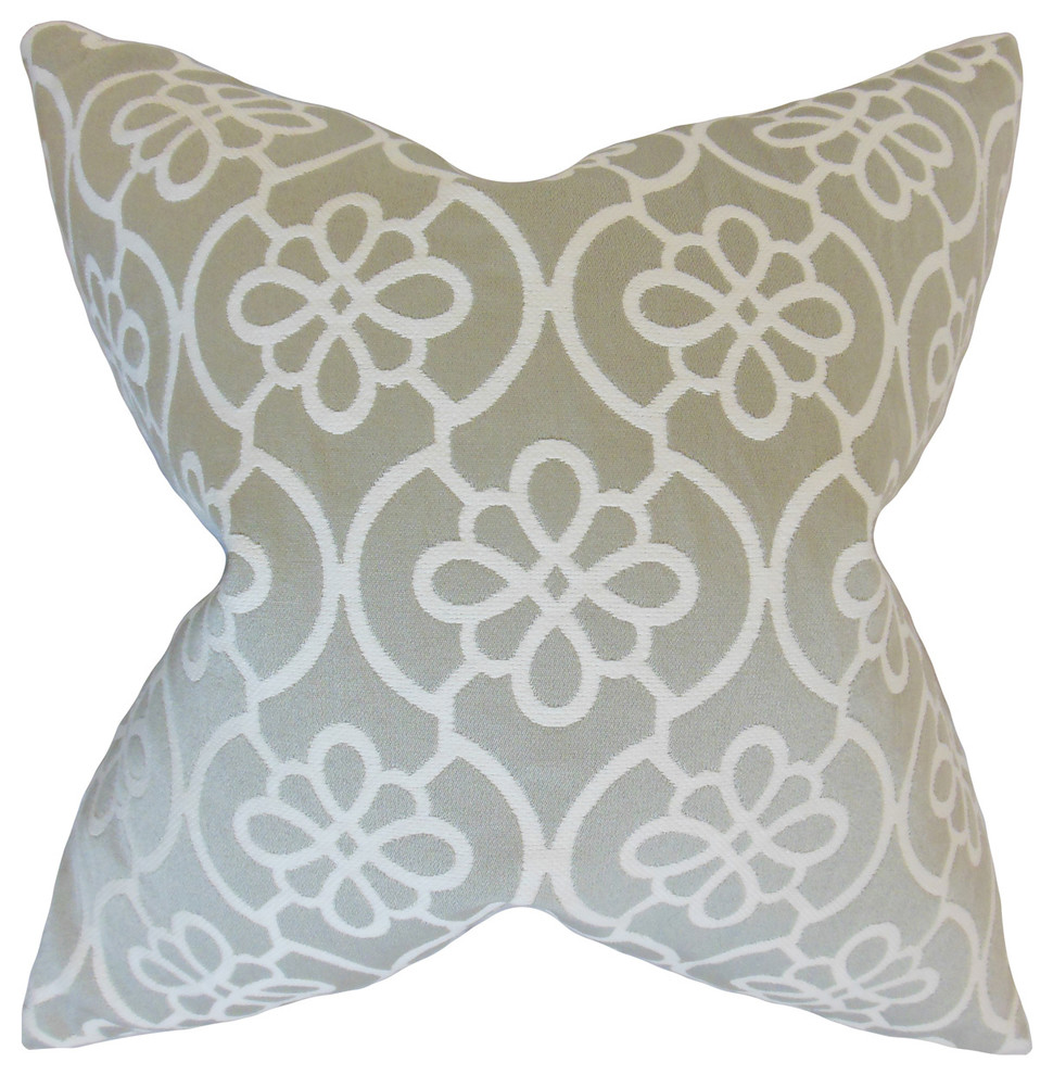 The Pillow Collection Indre Geometric Bedding Sham Honeydew Queen//20 x 30