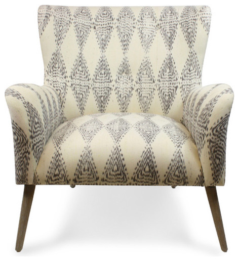 Gray Ikat Chair Contemporary Armchairs And Accent