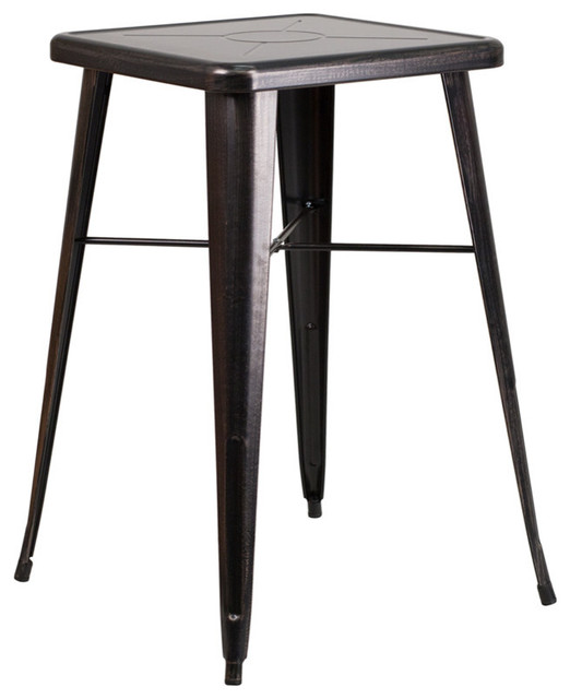 Flash Furniture Square Metal Indoor Outdoor Bar Table 24 39 39 Outdoor