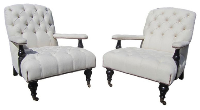 George Smith Armchairs, Aileen Getty Collection   $18,000 Est. Retail    $9,500 O Transitional