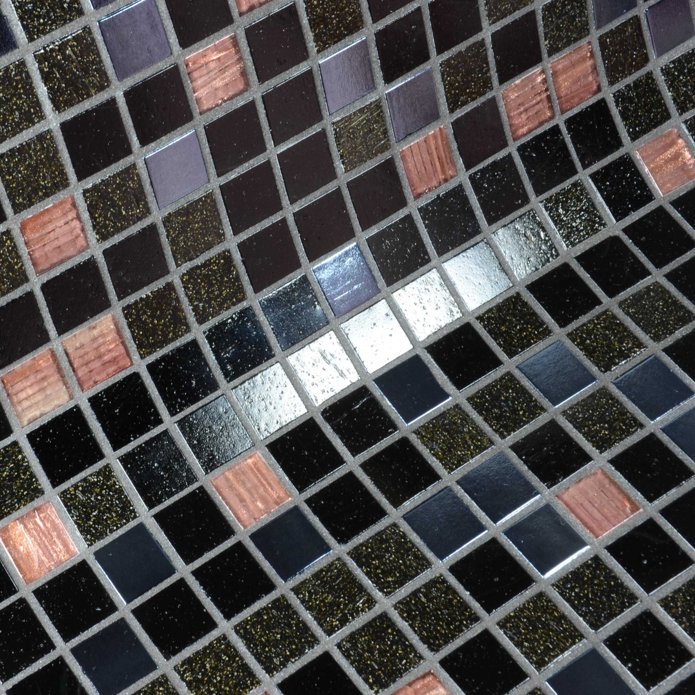 Mosaique Black Roses