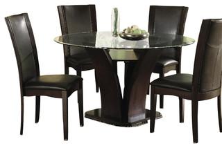 Homelegance Daisy 8-Piece Round Dining Room Set in Espresso