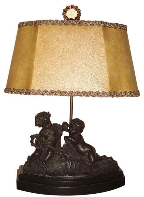 Antique Spelter Cherub Lamp Modern Table Lamps New