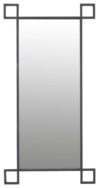 "Black Wall Mirror Decor, 27""x52""."