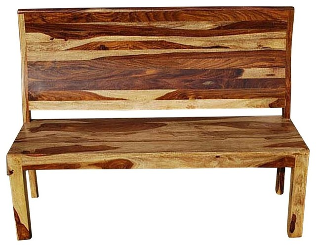 Dallas Ranch Vandana High Back Bench Rustic Dining Benches By Sierra Living Concepts