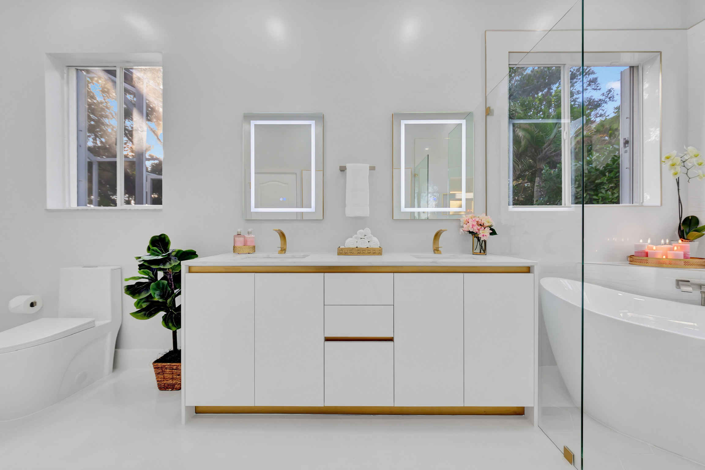 White and Brass Elegance