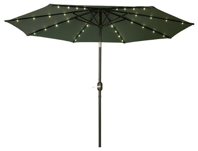 deluxe solar powered led lighted patio umbrella 9