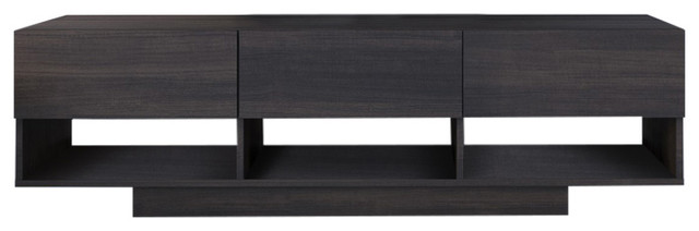 "Olvan 60"" Tv Stand With 3 Drawers, Ebony."