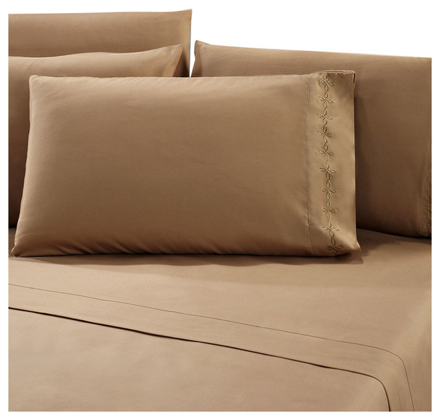 Elegant Series Tawny Bed Sheet Set Contemporary Sheet