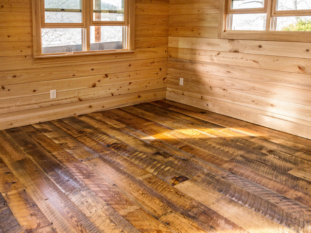 Wide Plank Reclaimed Heart Pine Floor Rustic Other